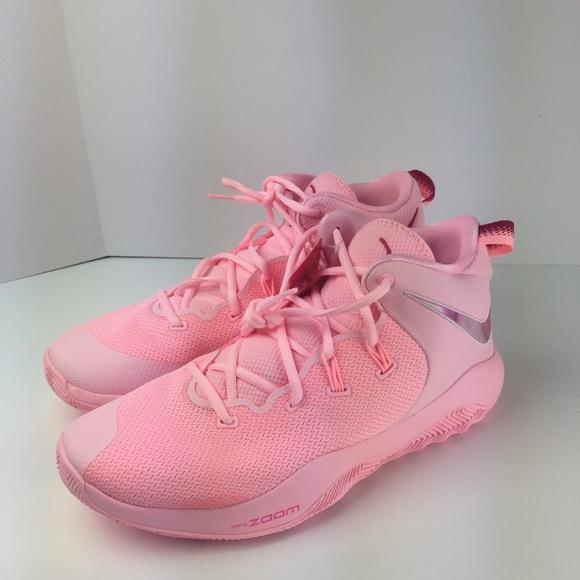 407d6cb2d725 Nike Zoom Rev TB II 2 Promo Pink Kay Breast Cancer